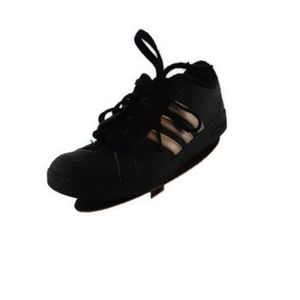 Adidas black and gold  lace up sneakers US5